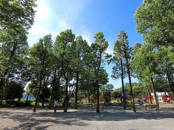 鷺沼公園(滑り台、上り棒等がからみあった大型の遊具、ブランコ、鉄棒など一通りそろっているので、子どもたちの運動不足解消に、絶好の遊び場スペースです。)